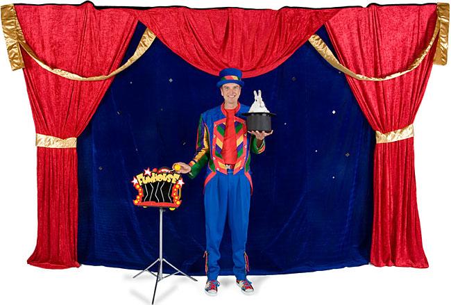 Rideaux magicien écoles et services de garde en milieu scolaire